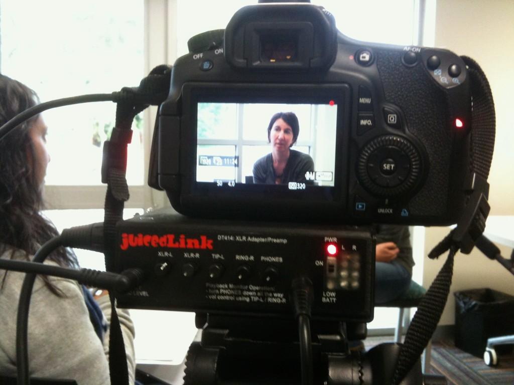 DSLR interview setup
