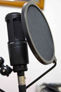 Voice over mic setup